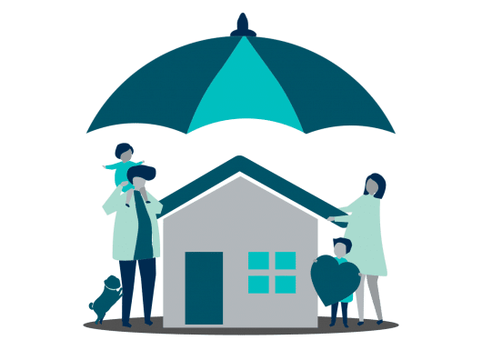 informed healthcare solutions life insurance family with house