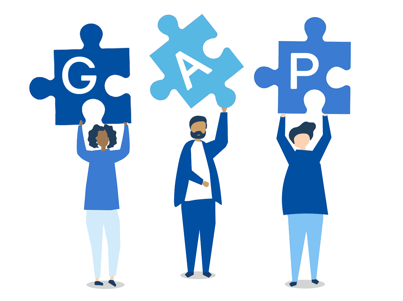 medical id broker services gap cover comparisons people with puzzle pieces