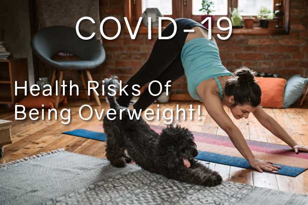 informed healthcare solutions obesity health risks coronavirus dog and lady keeping fit
